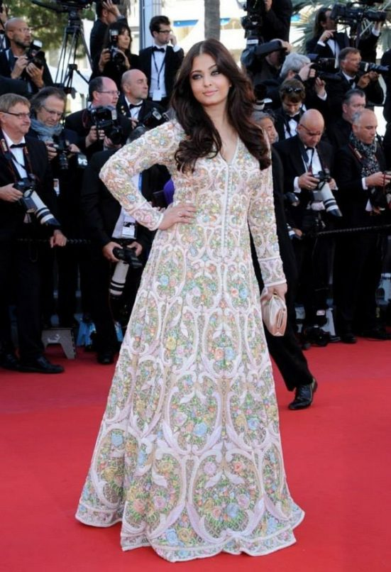 Aishwarya Rai Bachchan in Abu Jani Sandeep Khosla at Cannes. Image: Courtesy Instagram