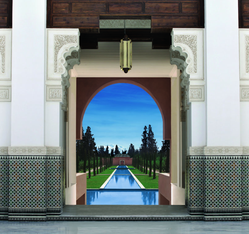 The view from the entrance of the Oberoi Hotel - Courtesy of Oberoi Marrakech