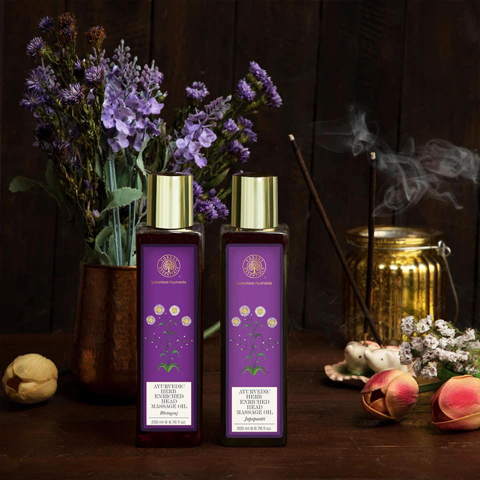 Forest essentials Ayurvedic Herb Enriched Head Massage Oil Japapatti