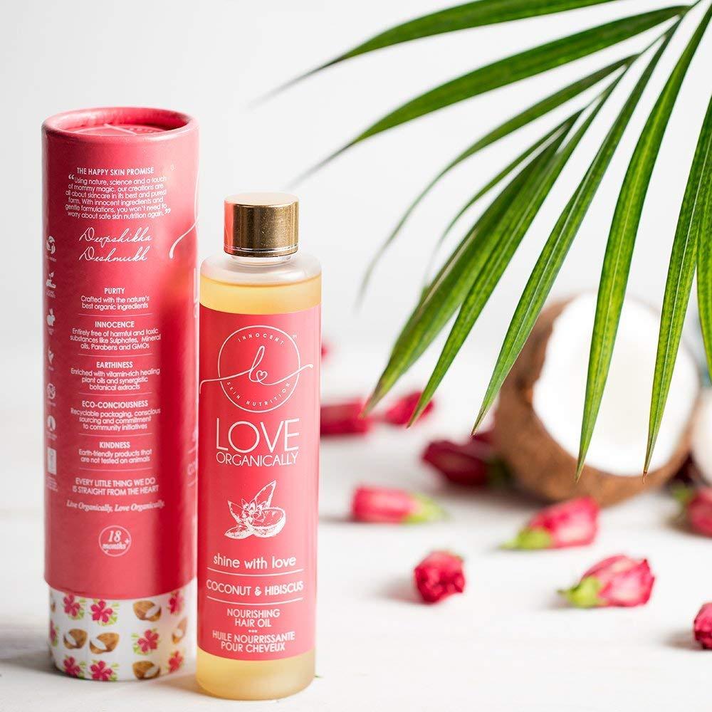 Love Organically Coconut & Hibiscus Hair Oil