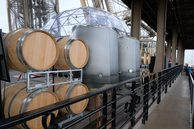 A winery has been set up on the first floor of the Eiffel Tower. / © ALEXANDRE NESTORA