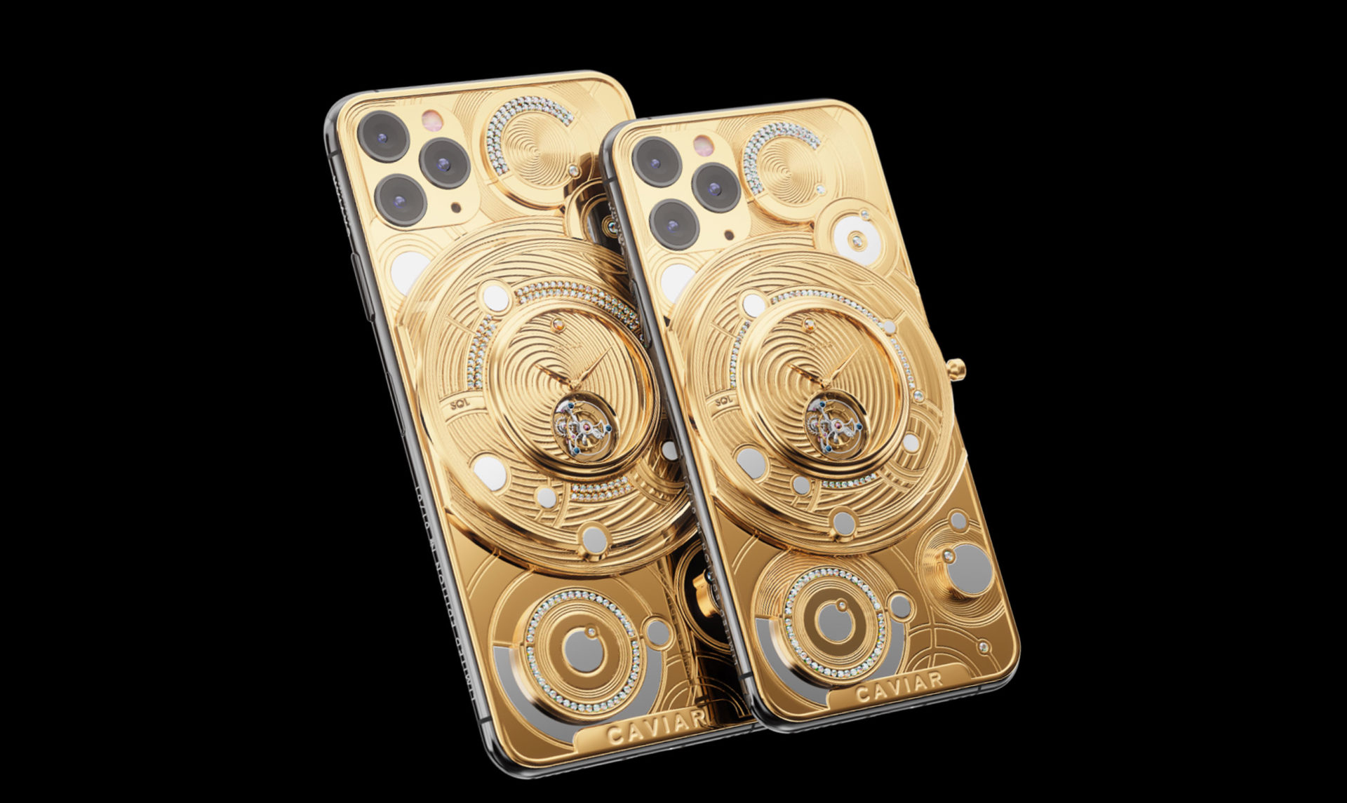 Caviar iPhone 11 Pro Solid Gold