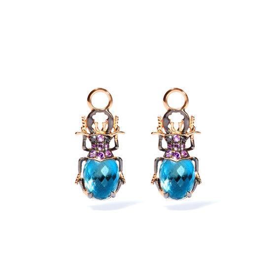 Topaz, November Birthstone, blue topaz, fine jewellery, Annoushka beetle earring, topaz mounted jewellery, november, birthstone, Annoushka, Annoushka topaz,