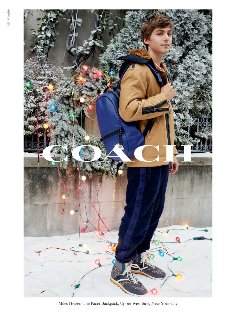 Coach Holiday Campaign Miles Heizer