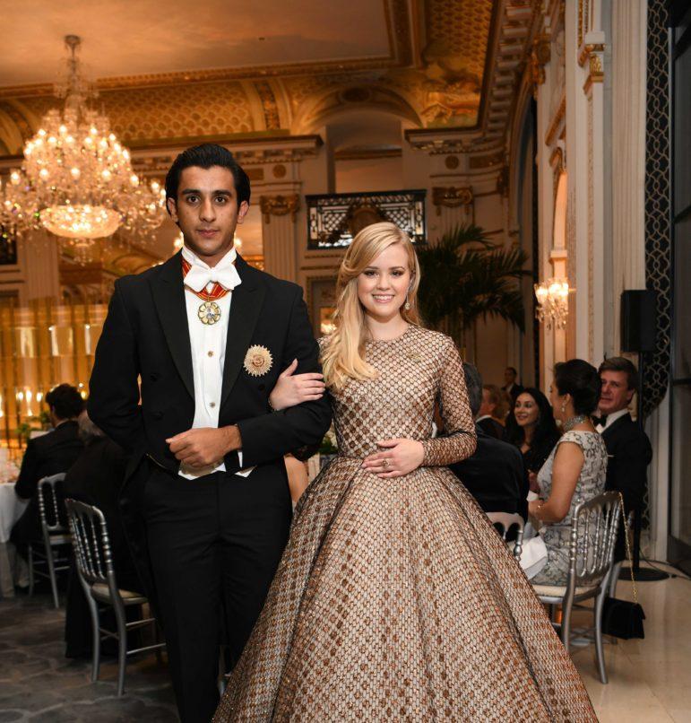 Ava Phillippe and HH Maharaja Sawai Padnambh Singh of Jaipur. Image: Courtesy Instagram