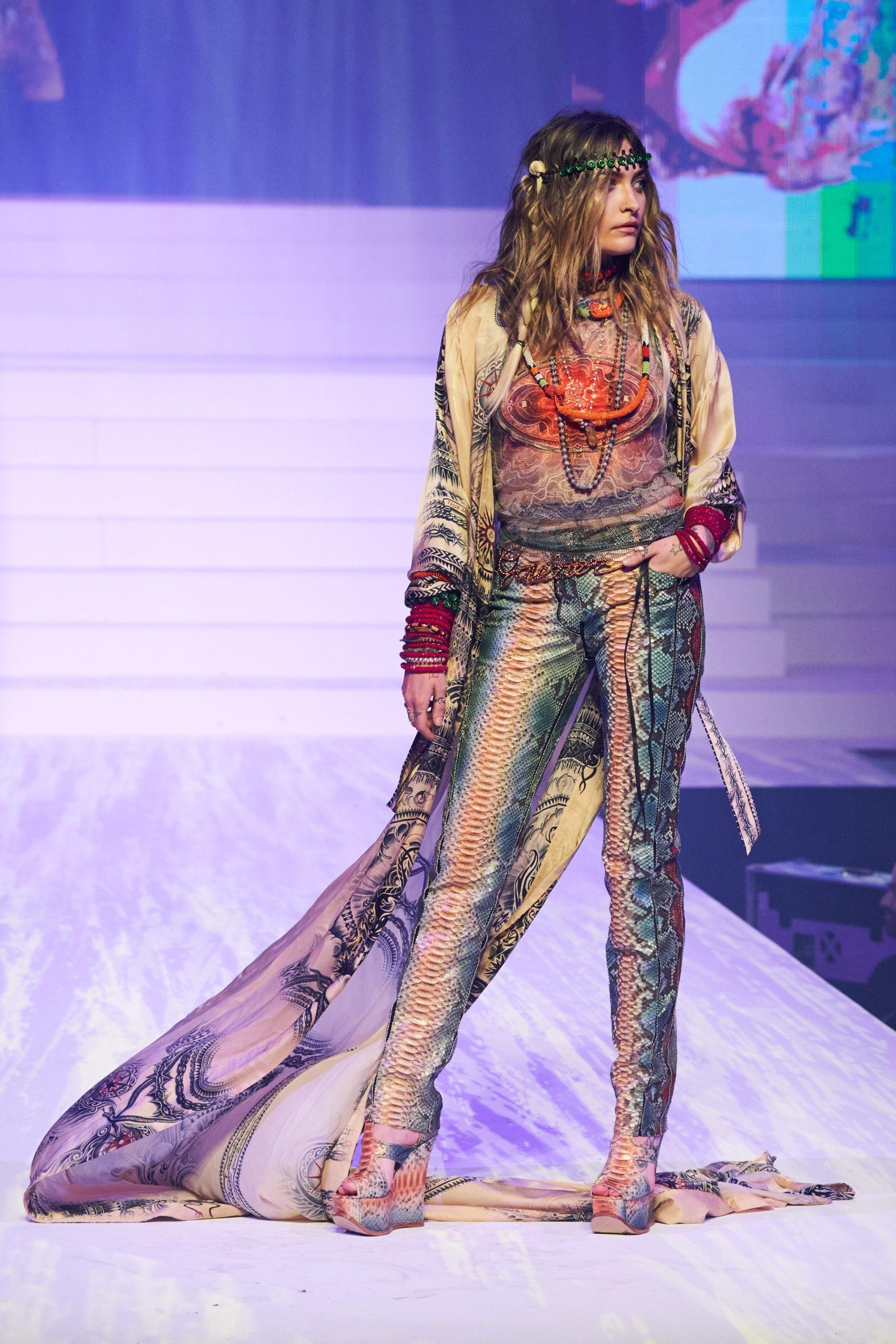 Paris Jackson at Jean-Paul Gaultier SS20 Haute Couture (Photo credit: Jean-Paul Gaultier)