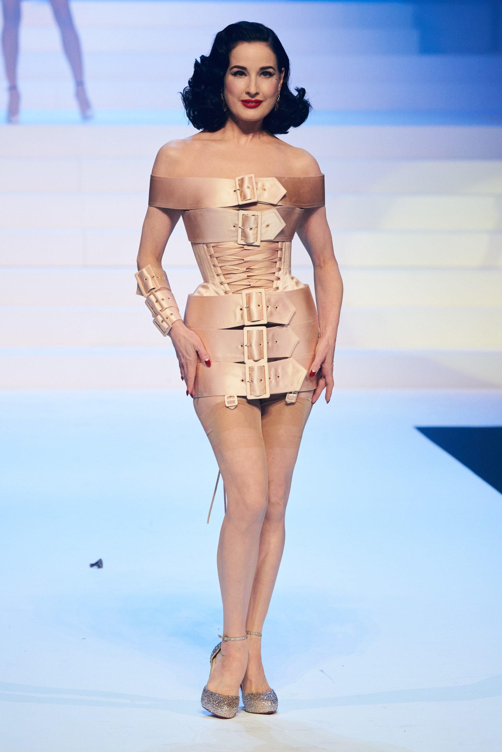 Dita Von Teese at Jean-Paul Gaultier SS20 Haute Couture (Photo credit: Jean-Paul Gaultier)