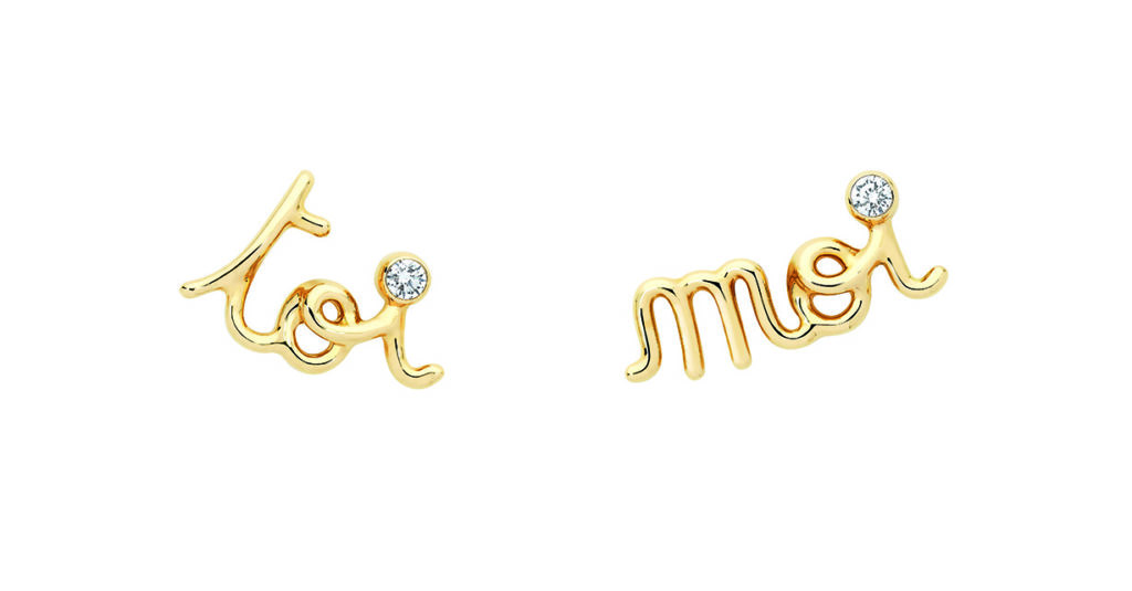 Oui earring, 18K yellow gold and diamonds (Photo credit: Dior)