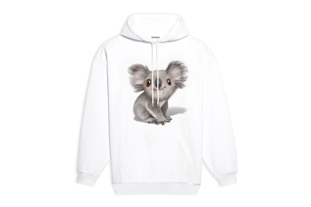 Balenciaga Koala Hoodie for the Australia fires relief