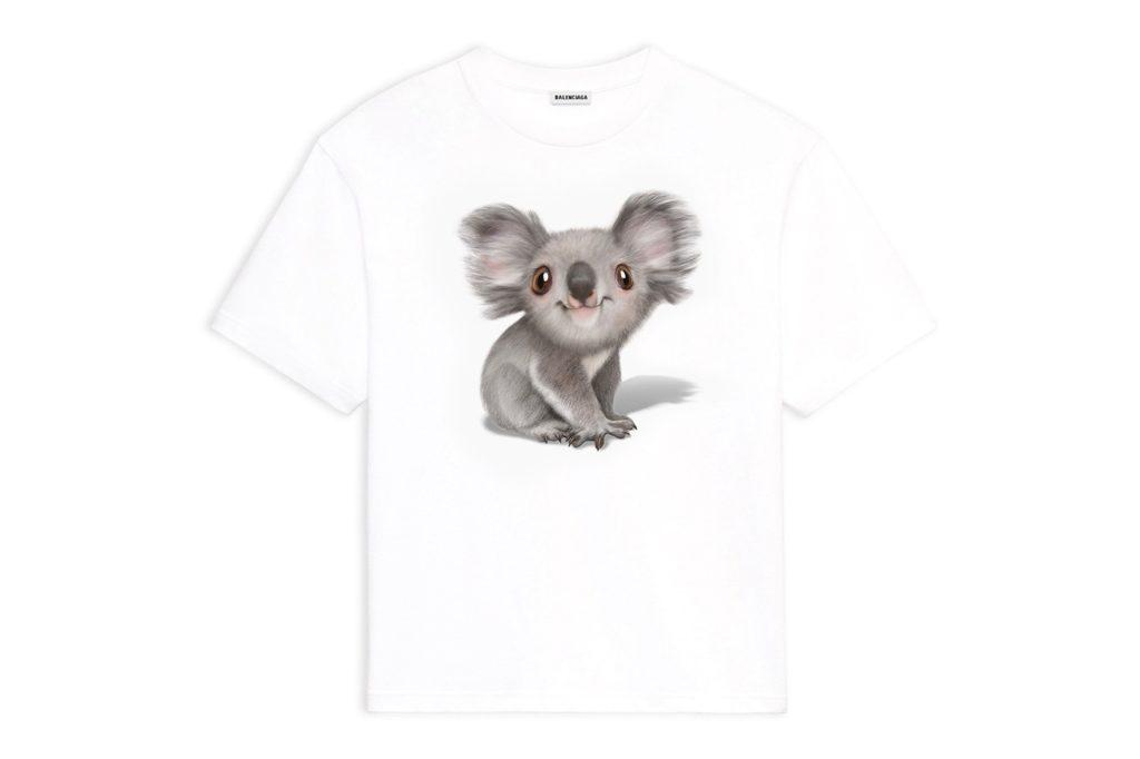 Balenciaga Koala T-Shirt for the Australia Fires relief