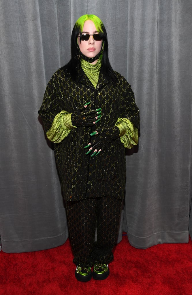 Billie Eilish in Gucci at the Grammys 2020 (Photo credit: Getty Images)