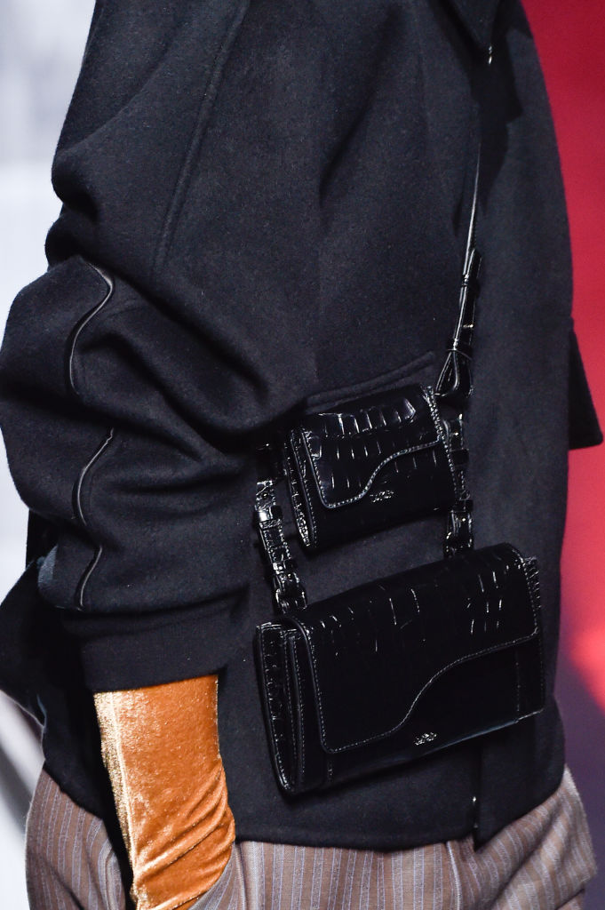 Dual bags at Dior Homme Fall 2020. Image: Courtesy Getty