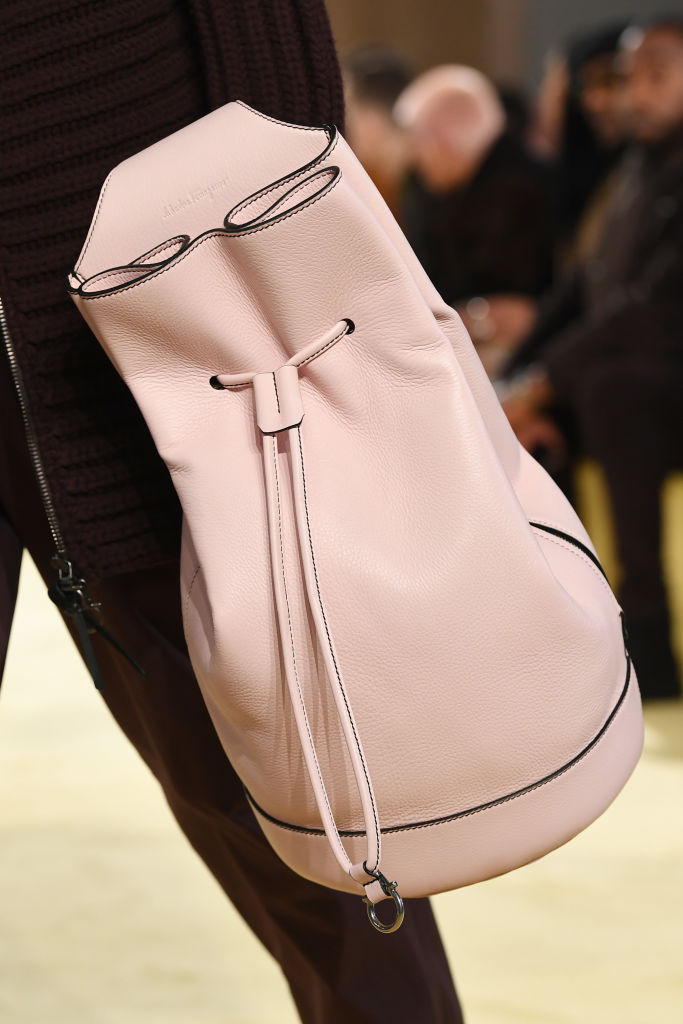 Interesting renditions of the coveted bucket at Ferragamo Fall 2020. Image: Courtesy Getty
